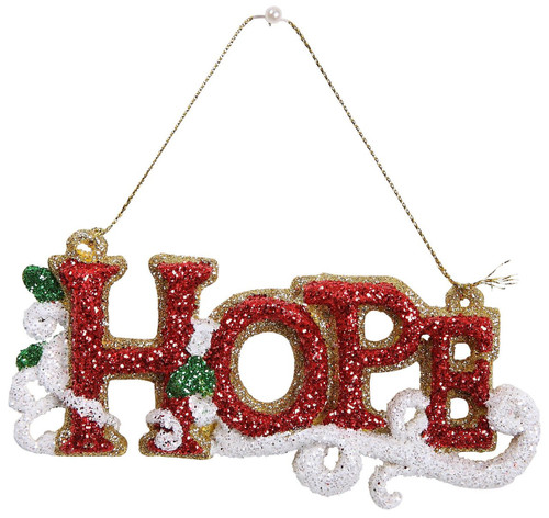 "Ship ASAP [45581] 5.7""plastic hope ornament"