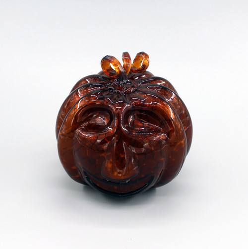 """[00598] 6.75"""" glass pumpkin"""