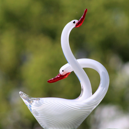"[44776] 11.5""glass swan"