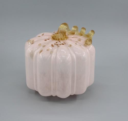 """[48554] 8"""" glass pumpkin"""