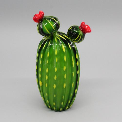 """[48859] 9"""" glass cactus"""