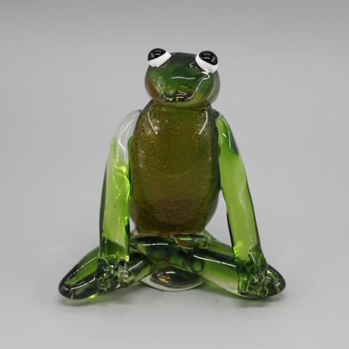 "[48864] 6.5"" glass frog"