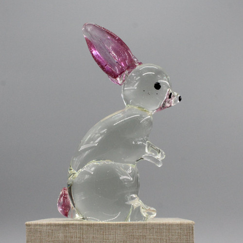 "[48871] 7"" glass bunny"