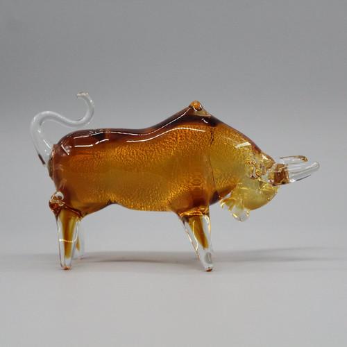"""[51632] 7.25"""" glass bull"""