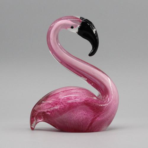 [51685] glass flamingo