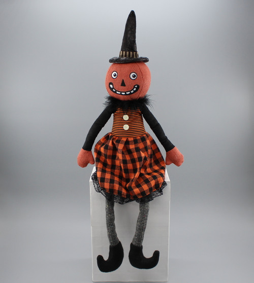 "[52821] 24""Halloween sitting pumpkin gril"