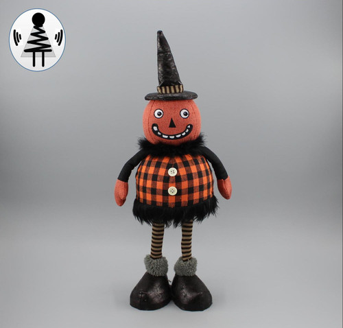 "[52823] 18""Halloween standing pumpkin girl (shaking body)"