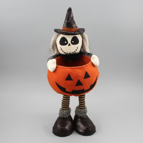 "[52835] 15""Standing ghost with pumpkin body"