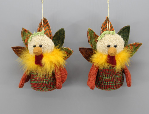 "[52870] 6""Turkey ornament set/2"