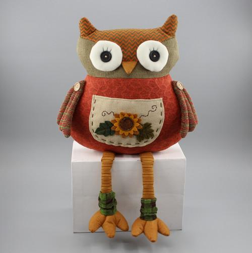 """[52871] 12.5""""Harvest sitting owl (pillow)"""