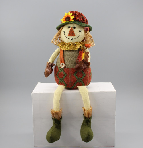 "[52879] 16""Sitting scarecrow girl"