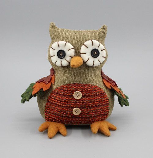 "[52881] 8""Harvest owl decoration"
