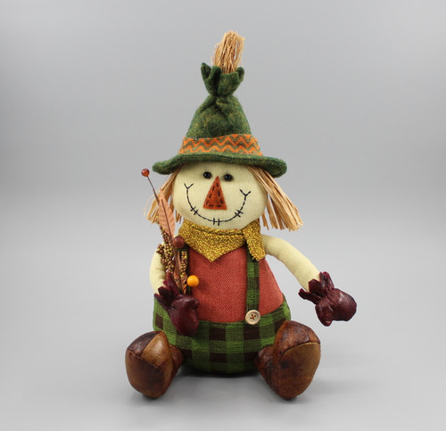 "[52882] 11""Harvest sitting scarecrow boy"