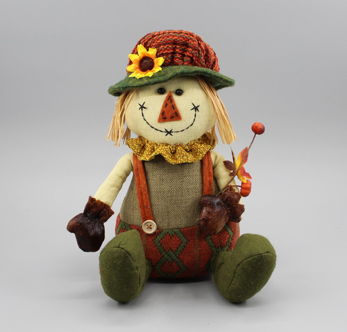 "[52883] 11""Harvest sitting scarecrow girl"