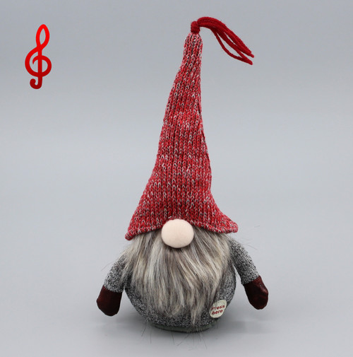 "[52911] 8""Singing and rocking Christmas gnome (musical)"
