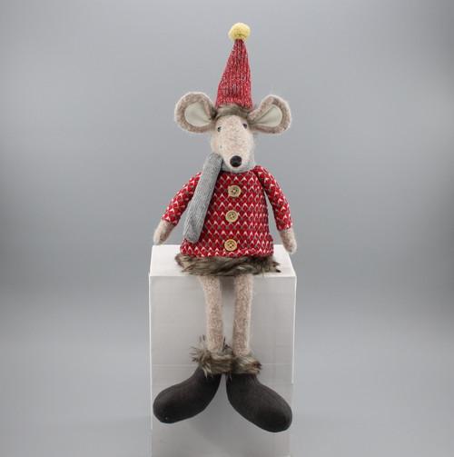 "[52923] 17""Sitting Christmas mouse boy"