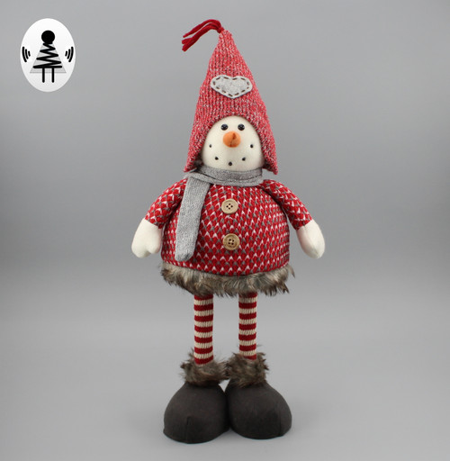 """[52925] 18""""Standing Christams gnome with spring body"""