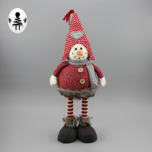 """[52926] 18""""Standing Christams gnome with spring body"""