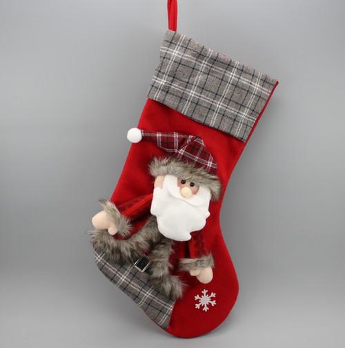 "[52939] 17""Christmas stocking with Santa"