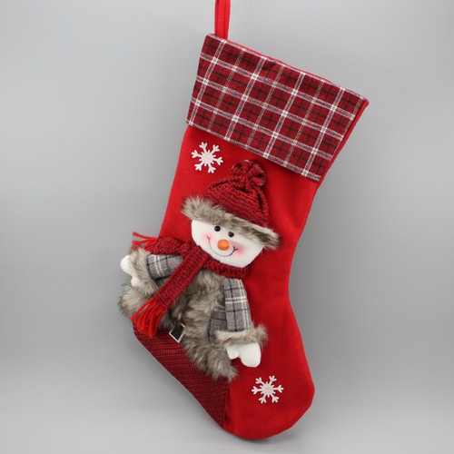 """[52940] 17""""Christmas stocking with snowman"""