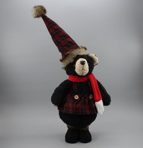 "[53002] 17""Standing Christmas black bear"