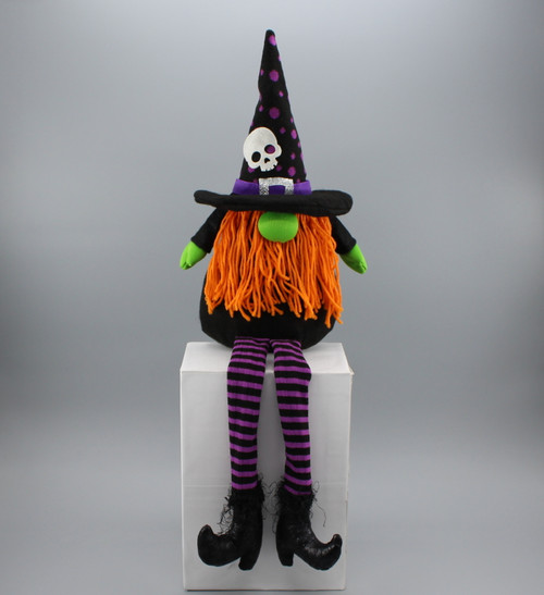"[53026] 24""Halloween sitting witch gnome"