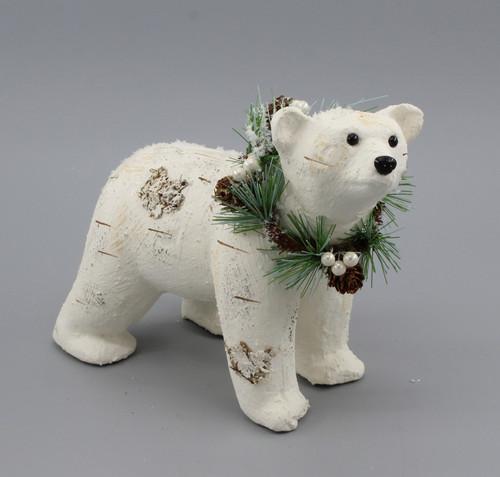 "[53043] 10""Christmas white bear"