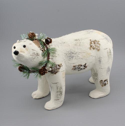 "[53045] 16.7""Christmas white bear"