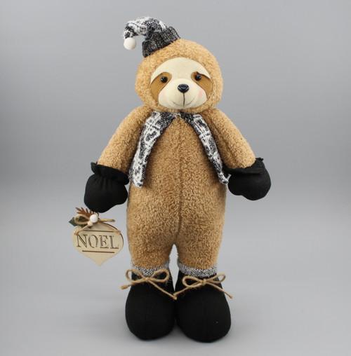 """[53066] 15.75""""Standing Christmas sloth"""