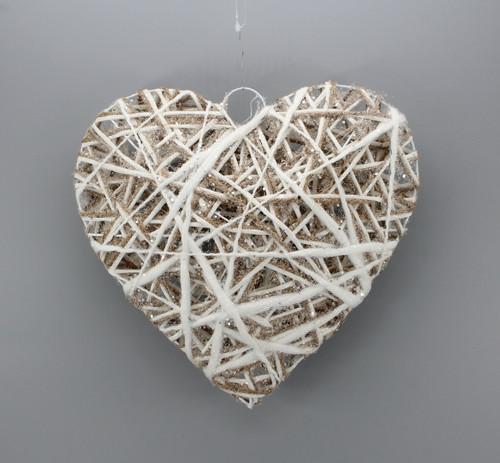 "[53127] 11.8""Christmas heart ornament"
