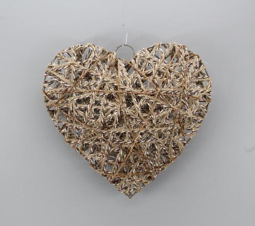 "[53139] 9.8""Christmas heart ornament"