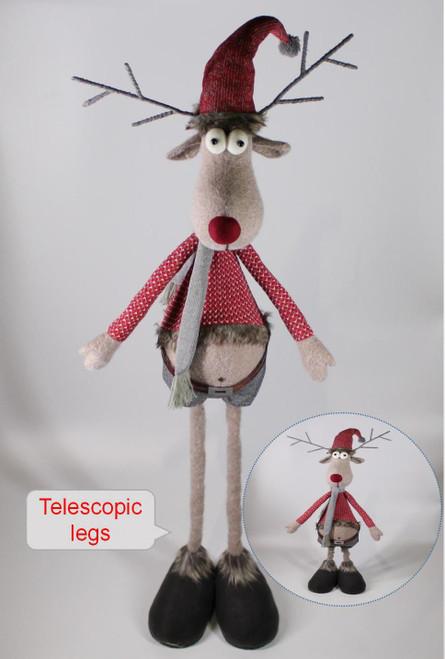 """[52927] 63""""Standing reindeer with telescopic legs"""