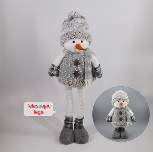 """[53017] 31""""Standing snowman with telescopic legs"""