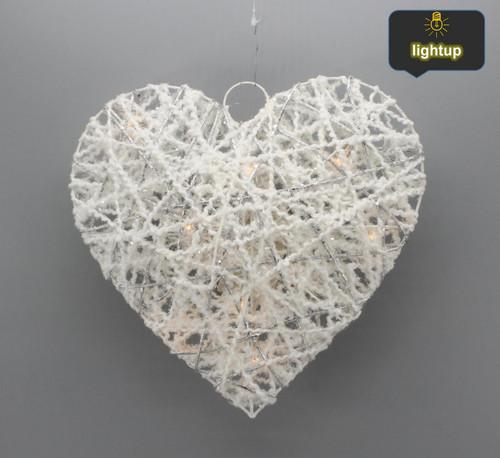 "[53155] 11.8""Christmas heart ornament"