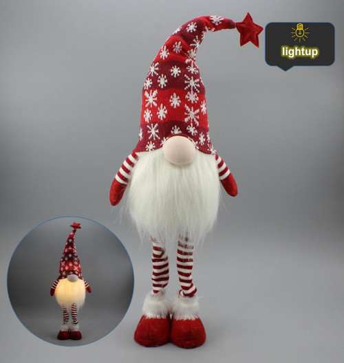 "[53175] 20""Standing Christmas gnome with LED"