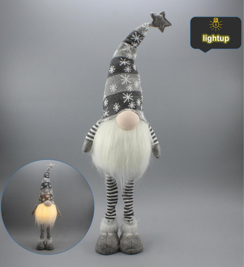"[53176] 20""Standing Christmas gnome with LED"