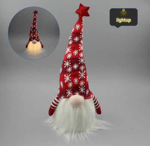 "[53179] 12""Christmas gnome with LED"