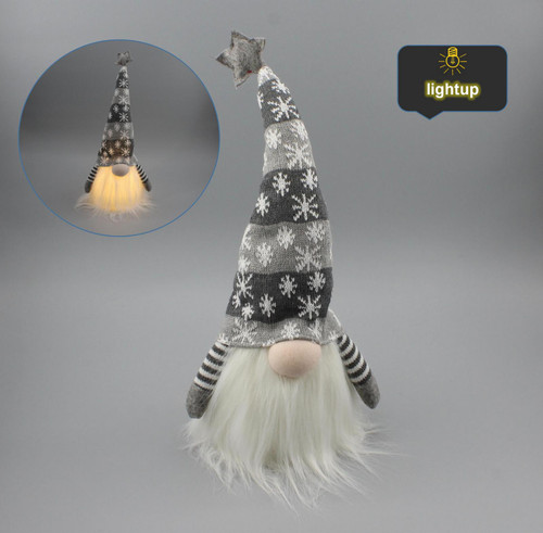 """[53180] 12""""Christmas gnome with LED"""