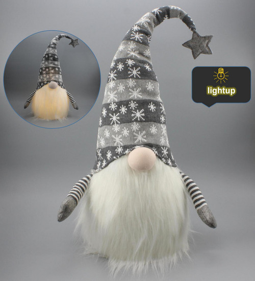 """[53182] 18""""Christmas gnome door stopper with LED"""