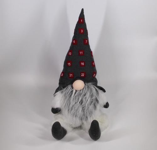 "[52657] 37""sitting Christmas gnome (gray hat)"