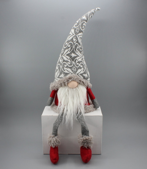 "[52669] 31.5""sitting Christmas gnome"