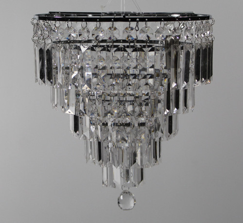 "[25622] Losse bead lampshade 5 layers Dia:10"" H:12.25"""