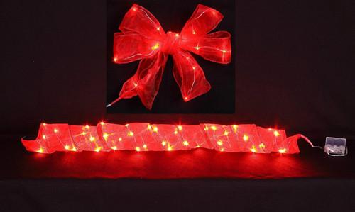 "[46218] 2.5x78""red LED ribbon w/20 lihgts (3xAA batteries)"