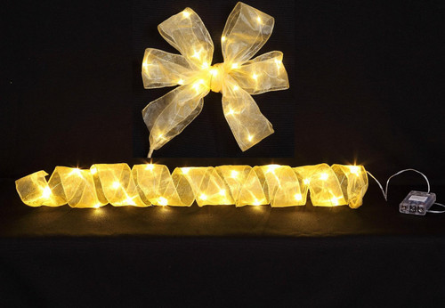 "[46226] 2.5x78""warm white LED ribbon w/20 lihgts (3xAA batteries)"