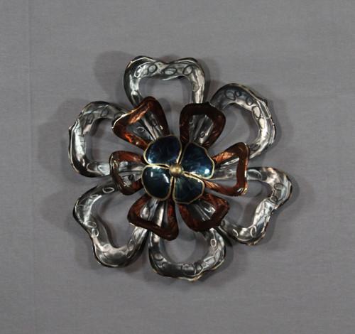 "[48278] 17x18""metal wall art (flower)"