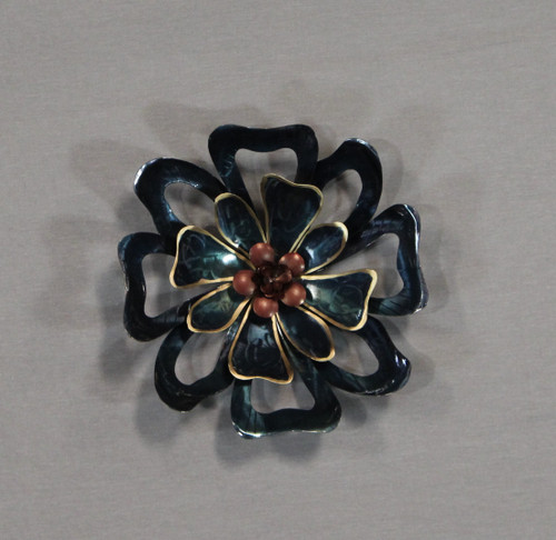 "[48279] 13x13""metal wall art (flower)"