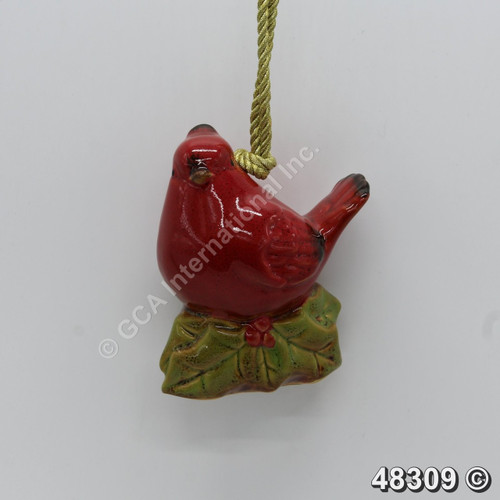 "[48309] 4.3"" Cardinal Bird Ornament (Ceramic)"