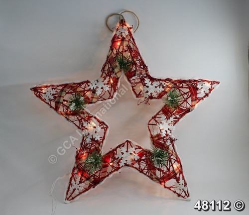 "[48112] 24""x24""x3"" Star With Lights (AC Power)"