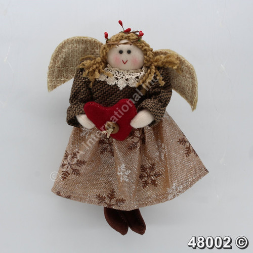 "[48002] 9"" Angel Holding Heart Ornament"