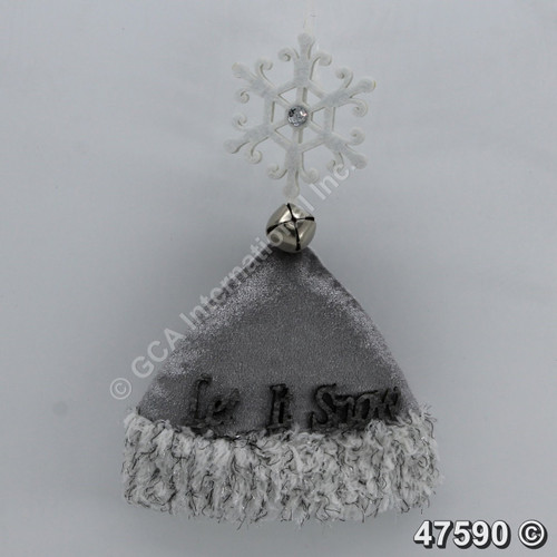 "[47590] 8"" Let It Snow Hat Ornament"